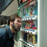 Jason loves beverage vending machines