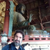 Jason with giant Buddha