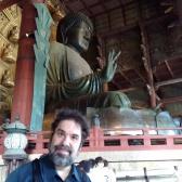 Jason with giant Buddha