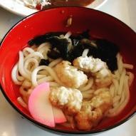 Octopus tempura udon