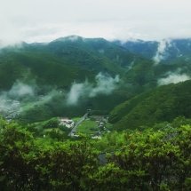 The mist in the mountains